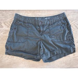 Sonoma   Olive Green Mid-Rise Shorts